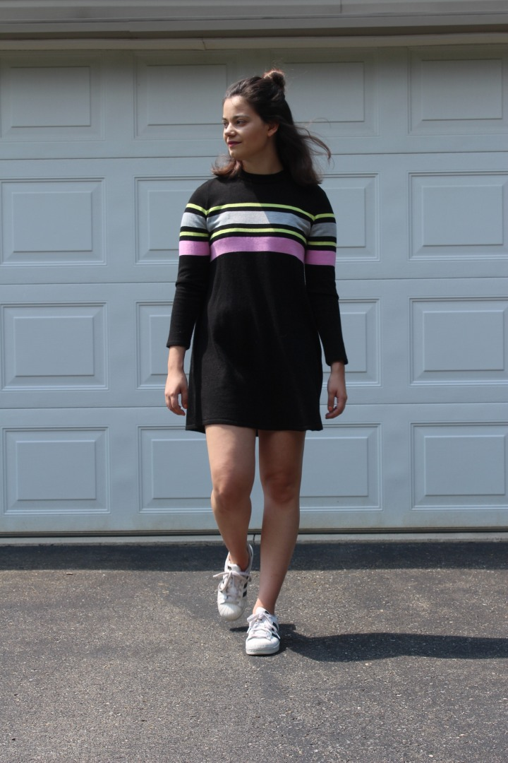 OOTD: Stripes and Sweater Dresses